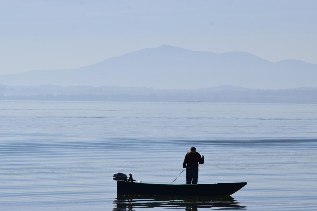 Trasimeno meer visser