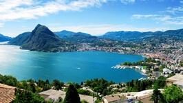 Panoramafoto Luganomeer