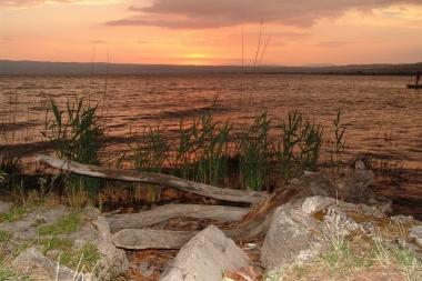 zonsondergang bolsenameer
