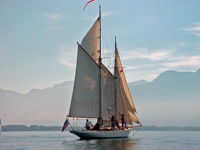 meer van geneve zeilboot